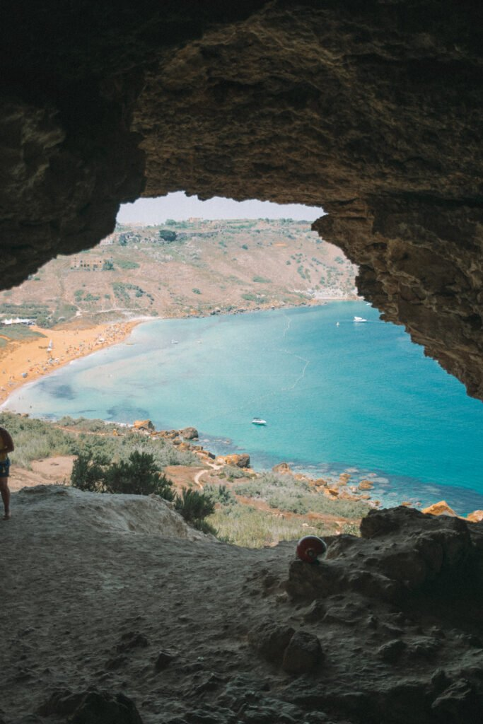 The view from Tal-Mixta cave