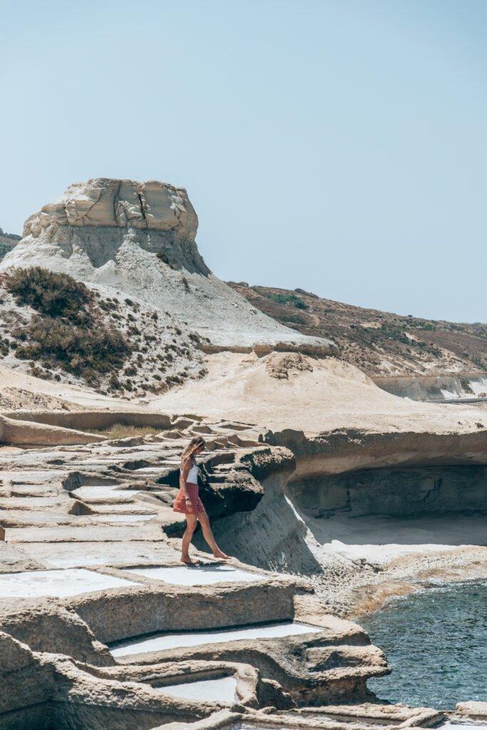 Salt Pans magnificent landscape on Gozo