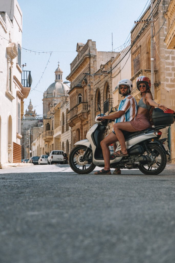 Scooter riding in Malta