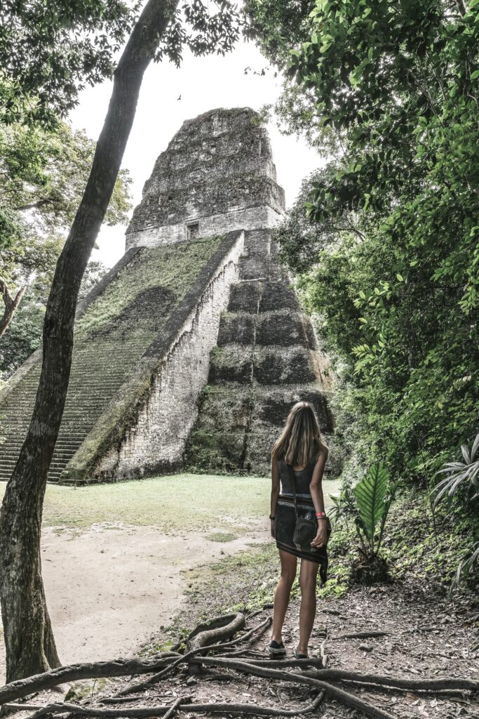 Amazing structure within the archeological site of Tikal Guatemala