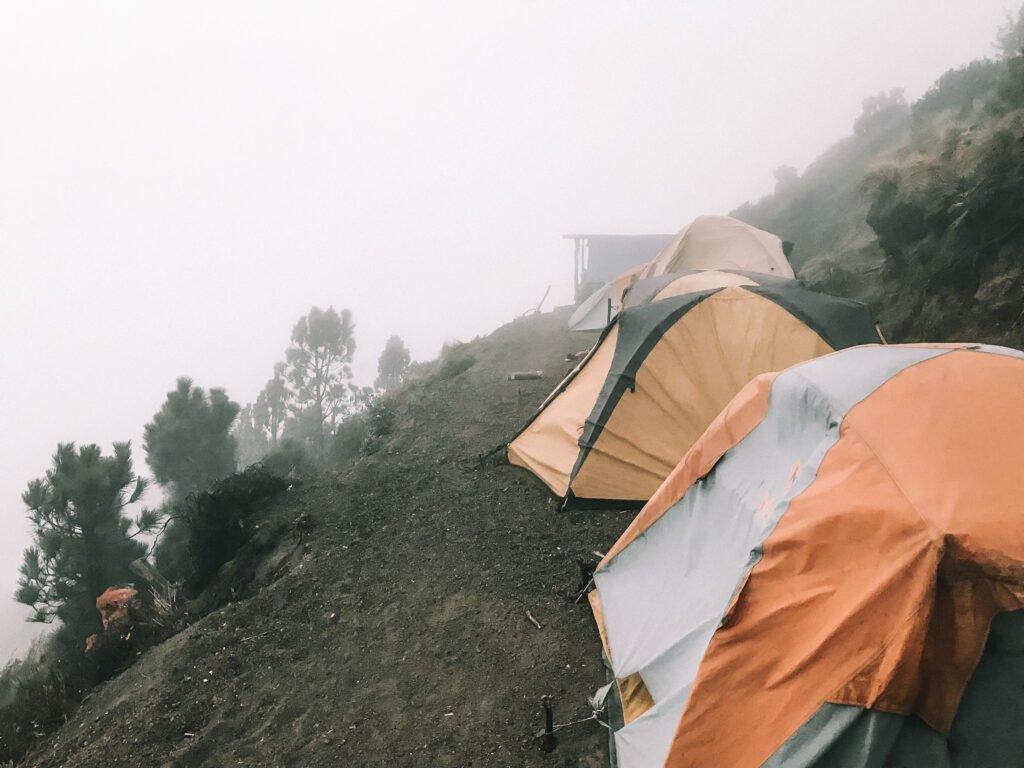 Hiking up Acatenango and having no visibility