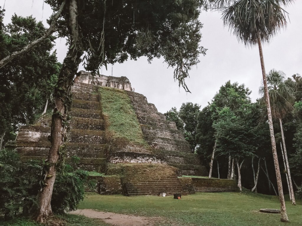 Amazing structure within the archeological site of Yaxha Guatemala