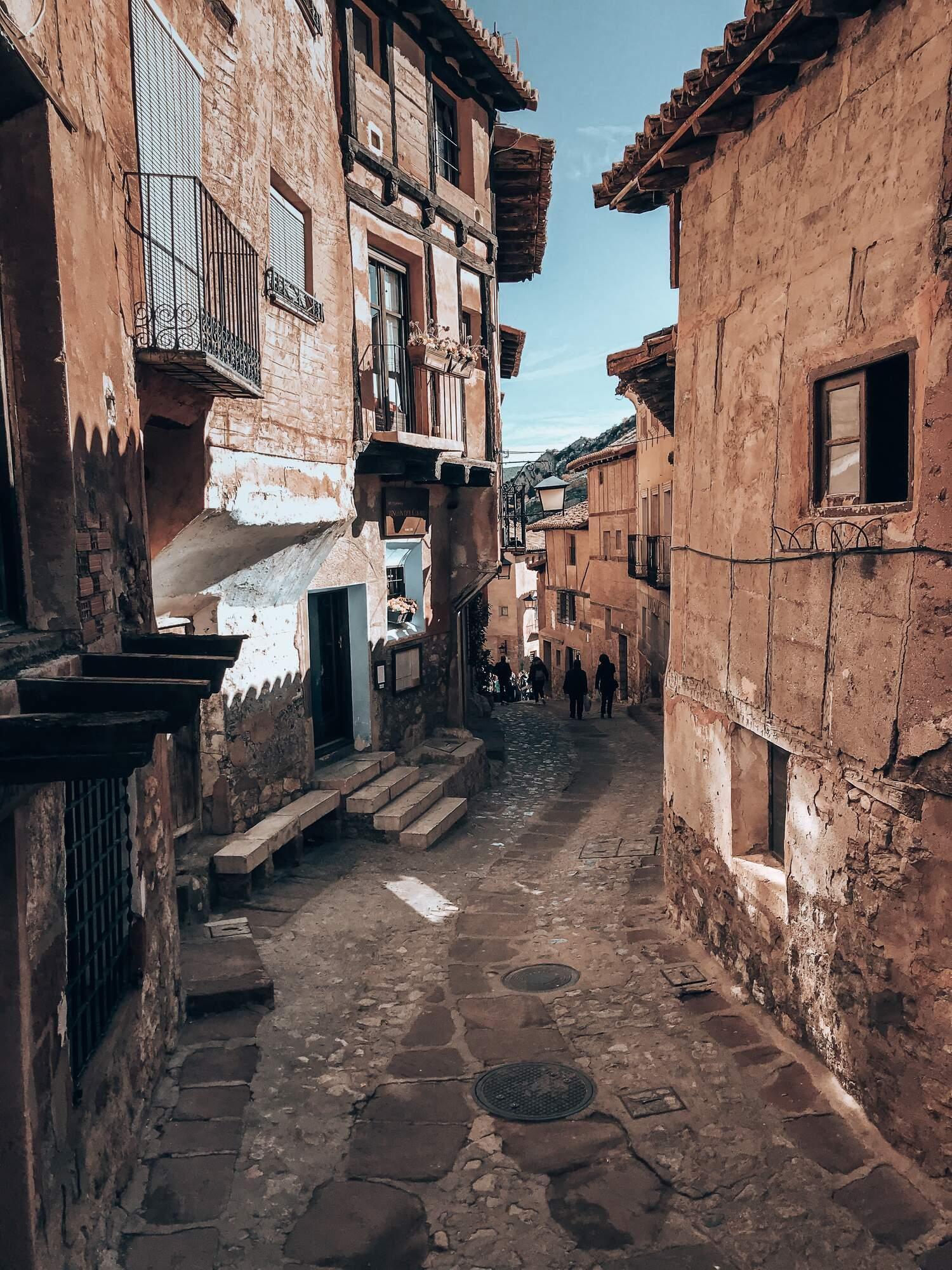 Walking the streets of the enchanting Albarracin in Spain.