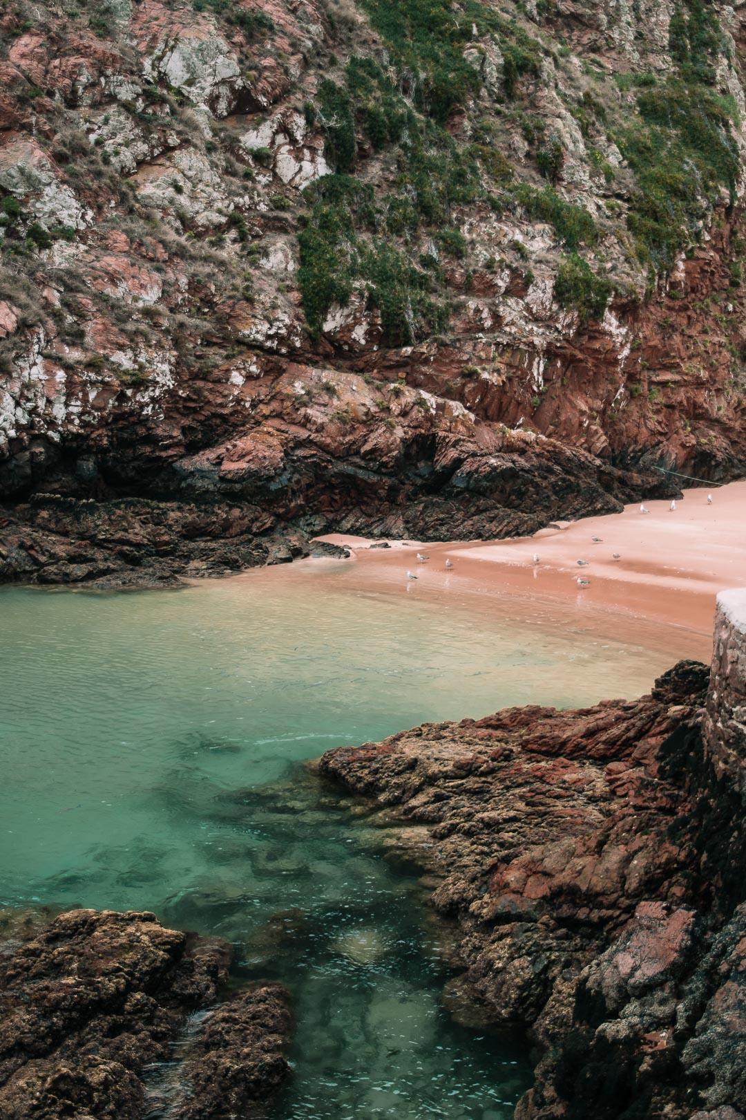 A view of Praia do Carreiro do Mosteiro on the Berlenga Islands Portugal