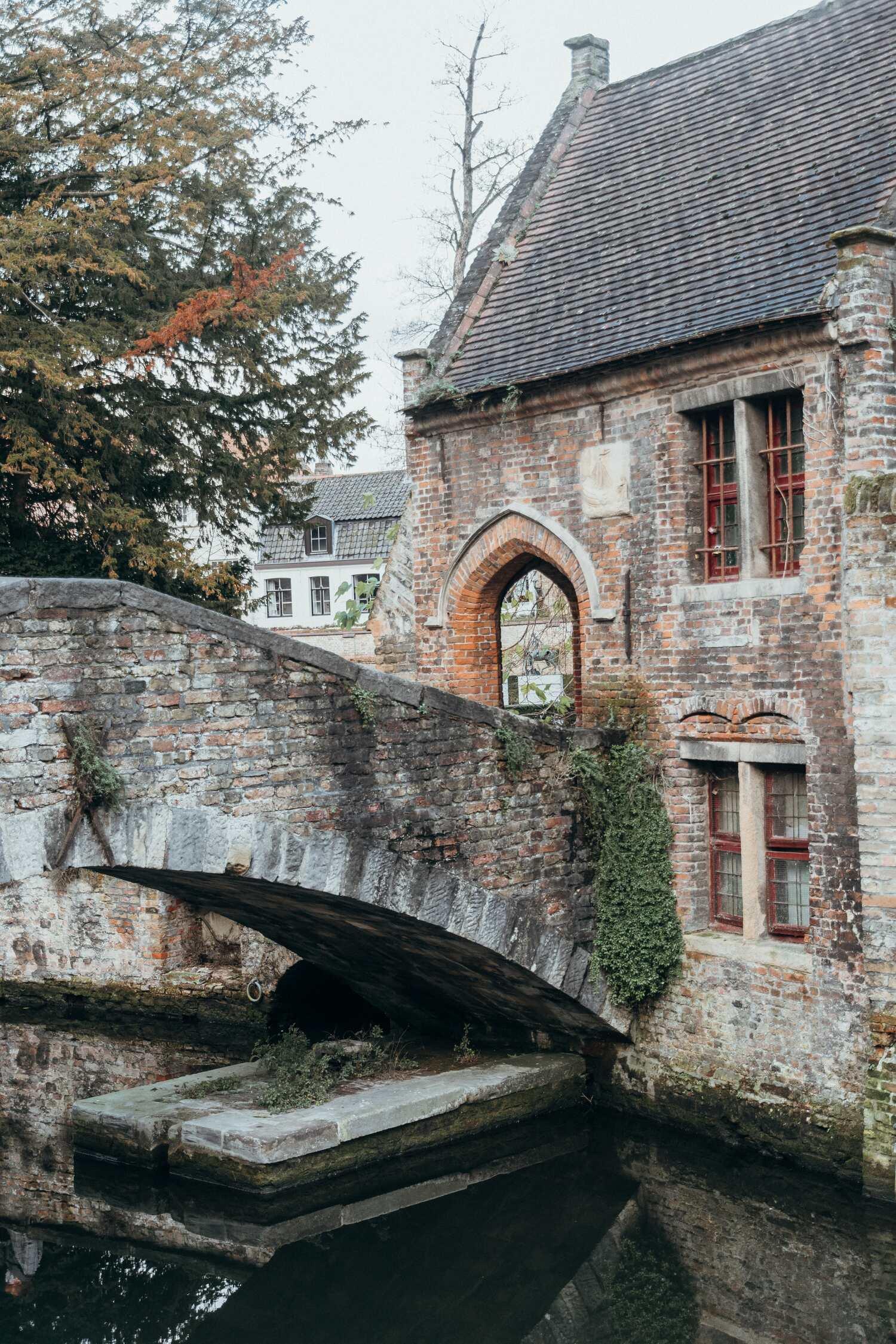 The Bonifacius Bridge at Bonifacius Brug one of the most famous and must visit spots in Bruges