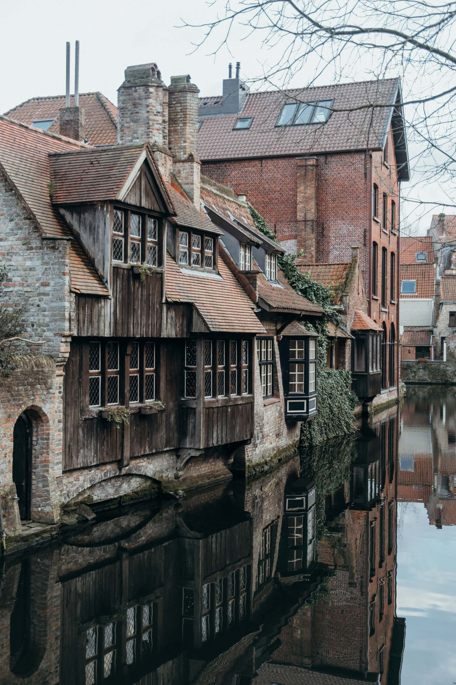A Bruges hotel view at Bonifacius Brug one of the most famous and must see spots in Bruges