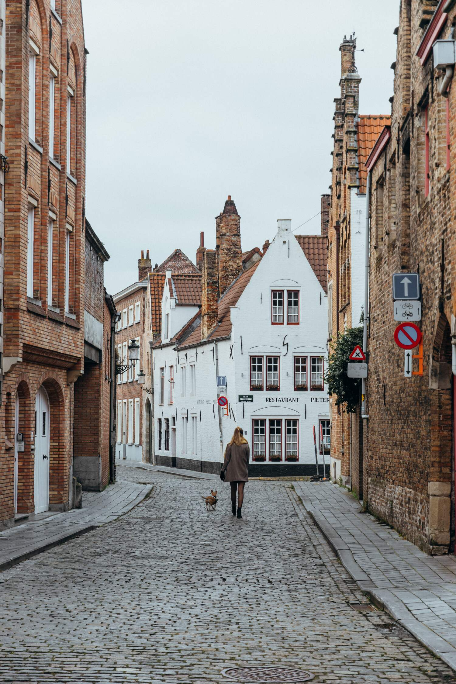 The back streets of bruges where a lot of the bruges hotels are located