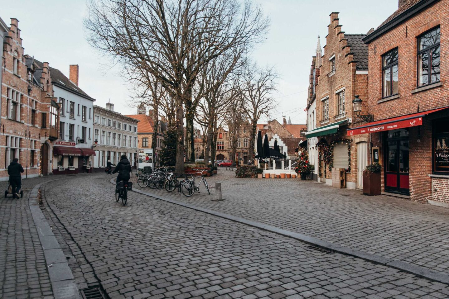 The Walplein square which is a must visit for our favourite brewery in bruges belgium during a bruges city break