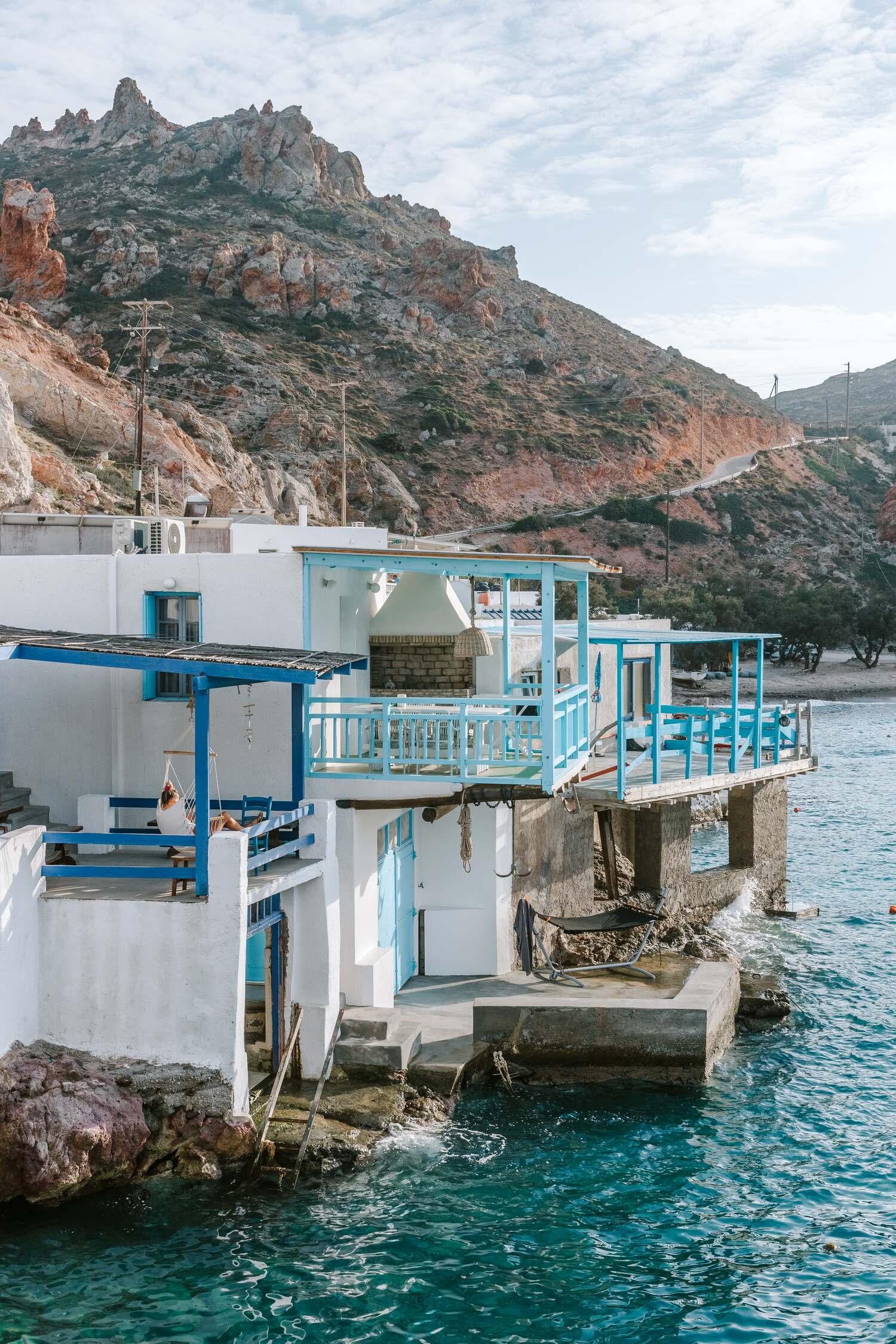 The beautiful small fishing village of Firopotamos on the Greek island of Milos