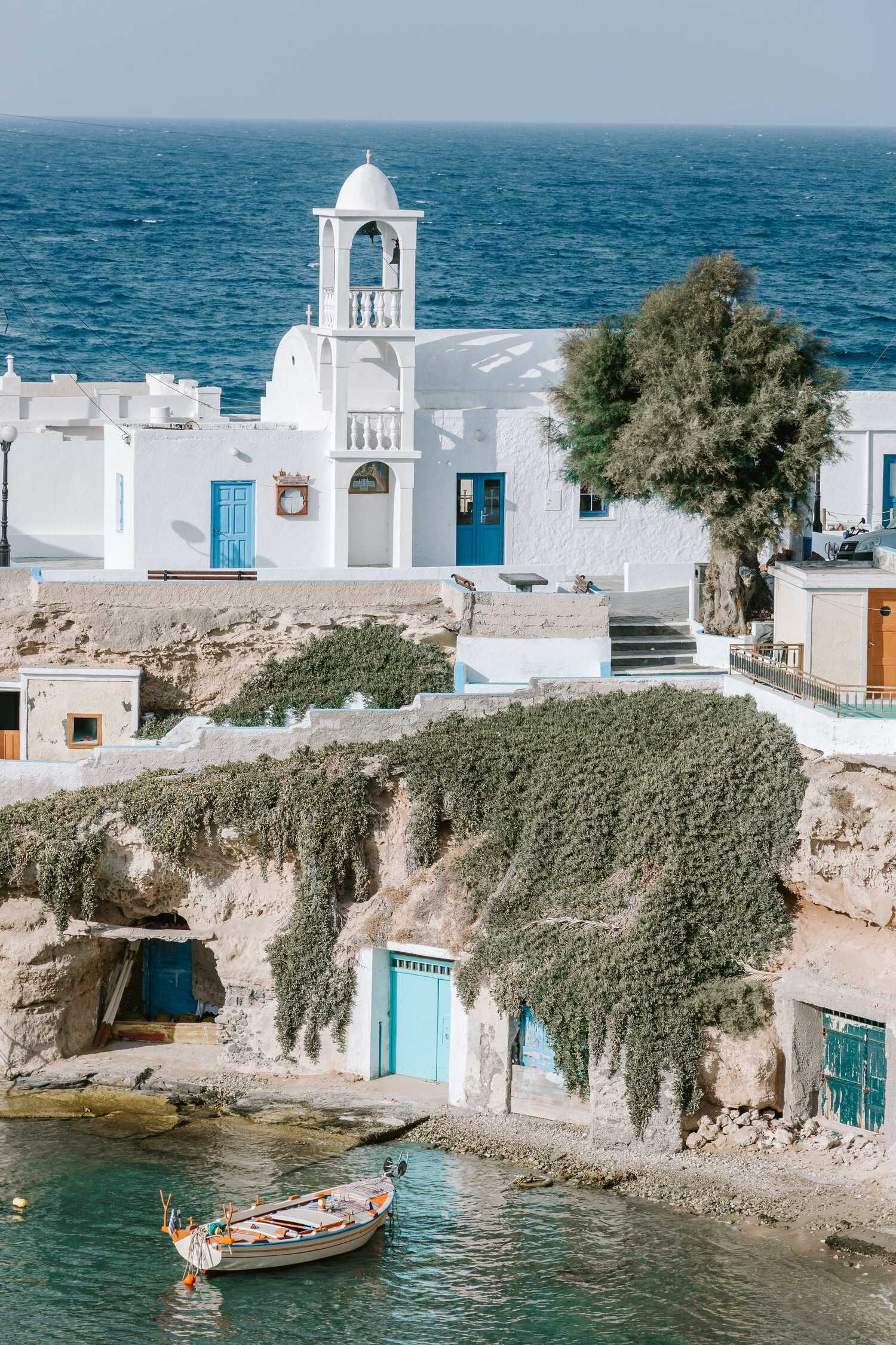 The beautiful small fishing village of Madrakia on the Greek island of Milos