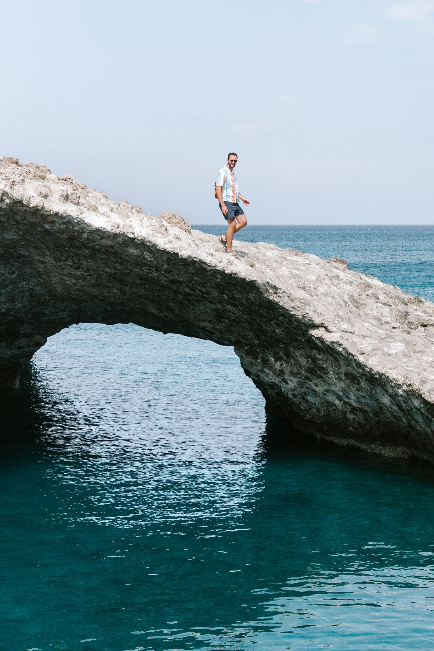 the archway of papafragas at one of the best beach of Milos