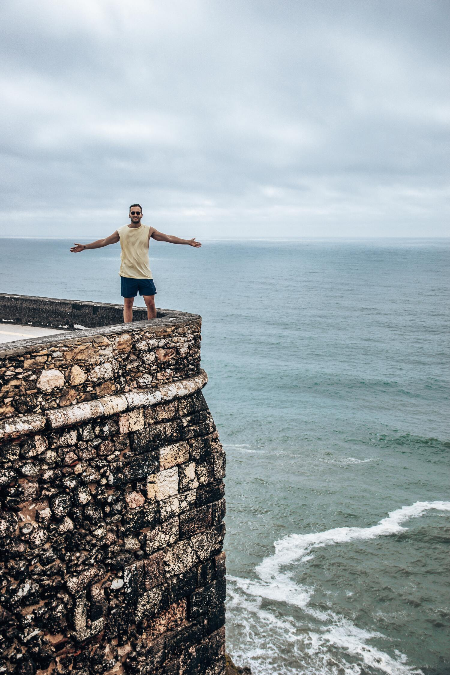 Nazare lighthouse is a must visit location when venturing on a Portugal road trip