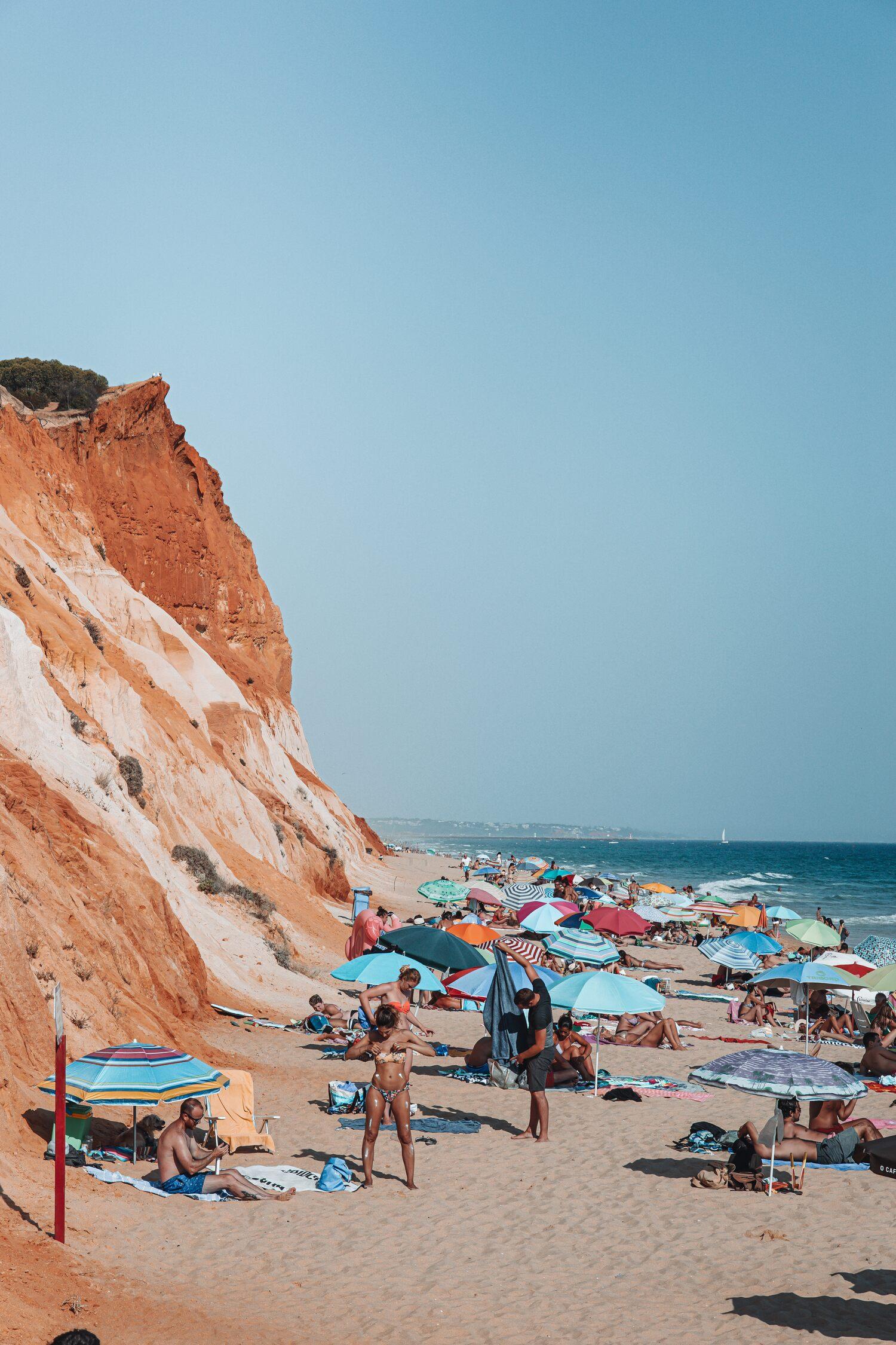 Praia da Falesia is a must visit location when venturing on a Portugal road trip of the coast