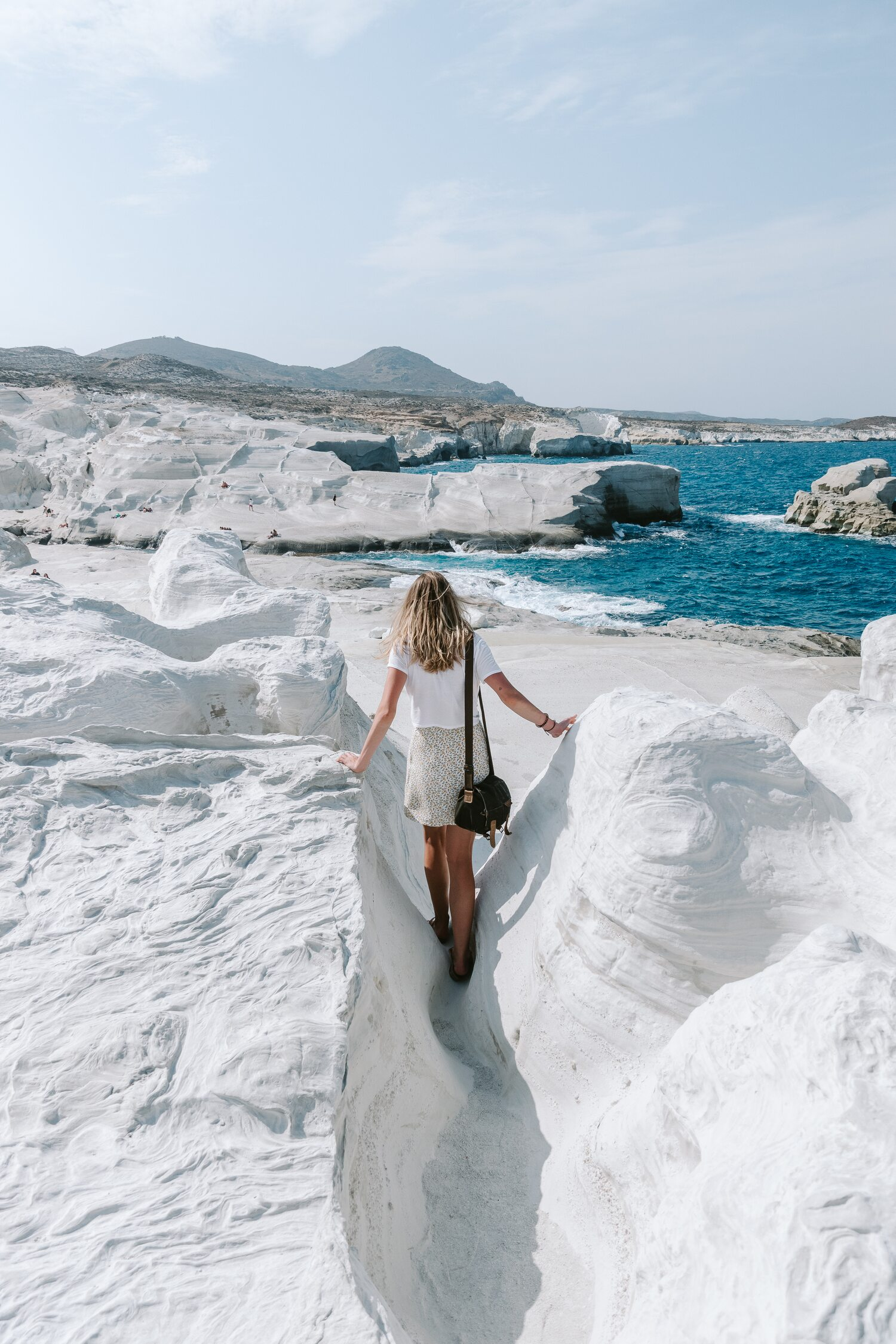 The magnificent Sarakiniko Beach. One of the best Milos beaches on the greek island Milos