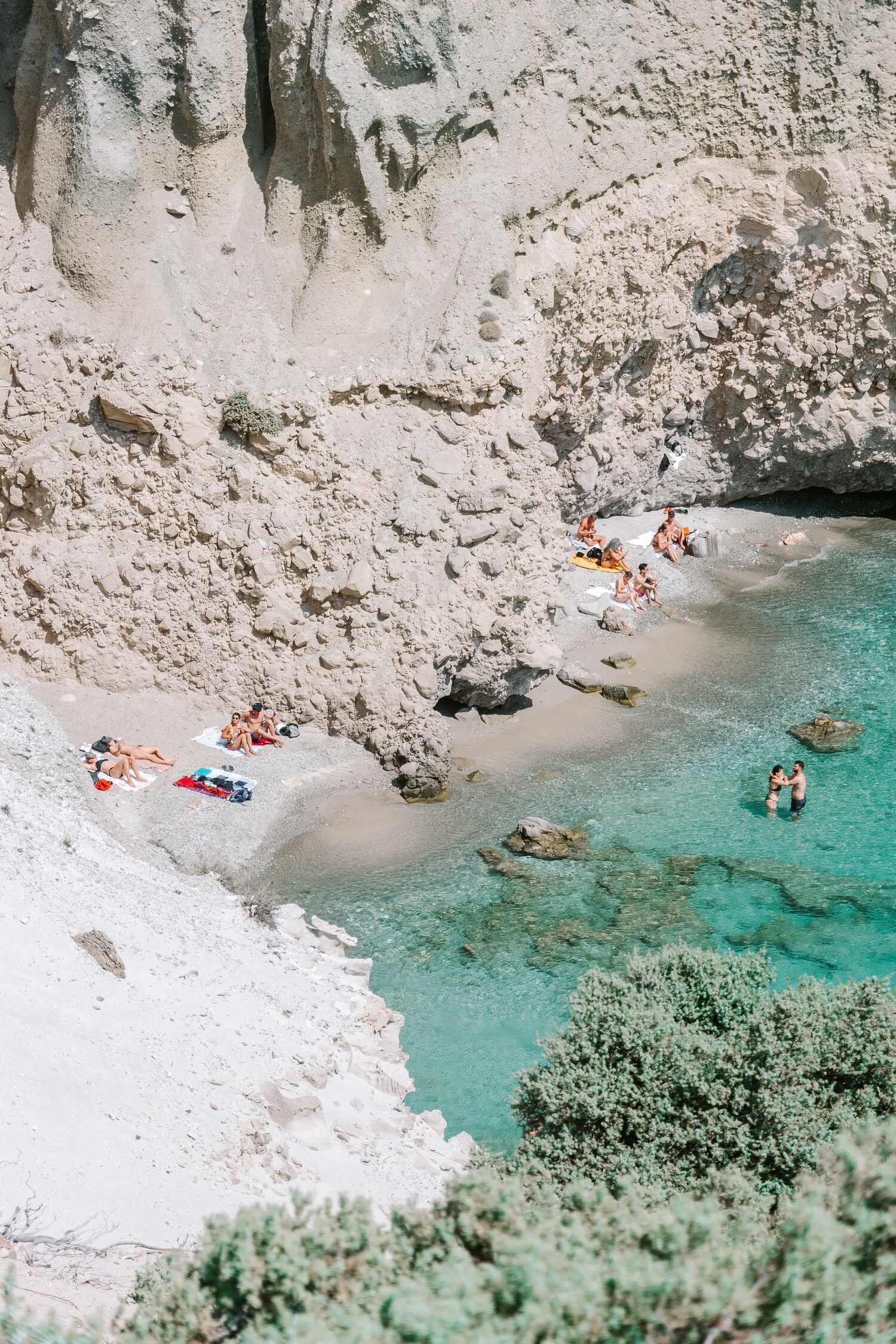 One of the Greek Island Milos best beaches Tsigrado