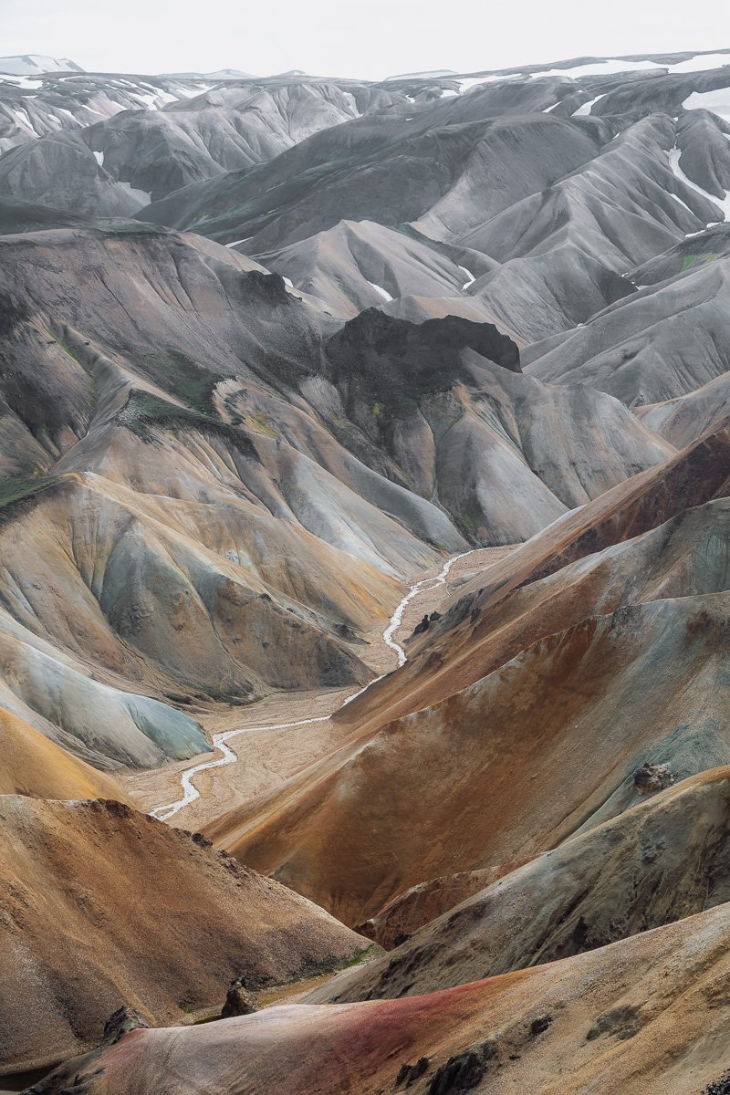 The colours of Landmannalaugar one of best hikes in Iceland