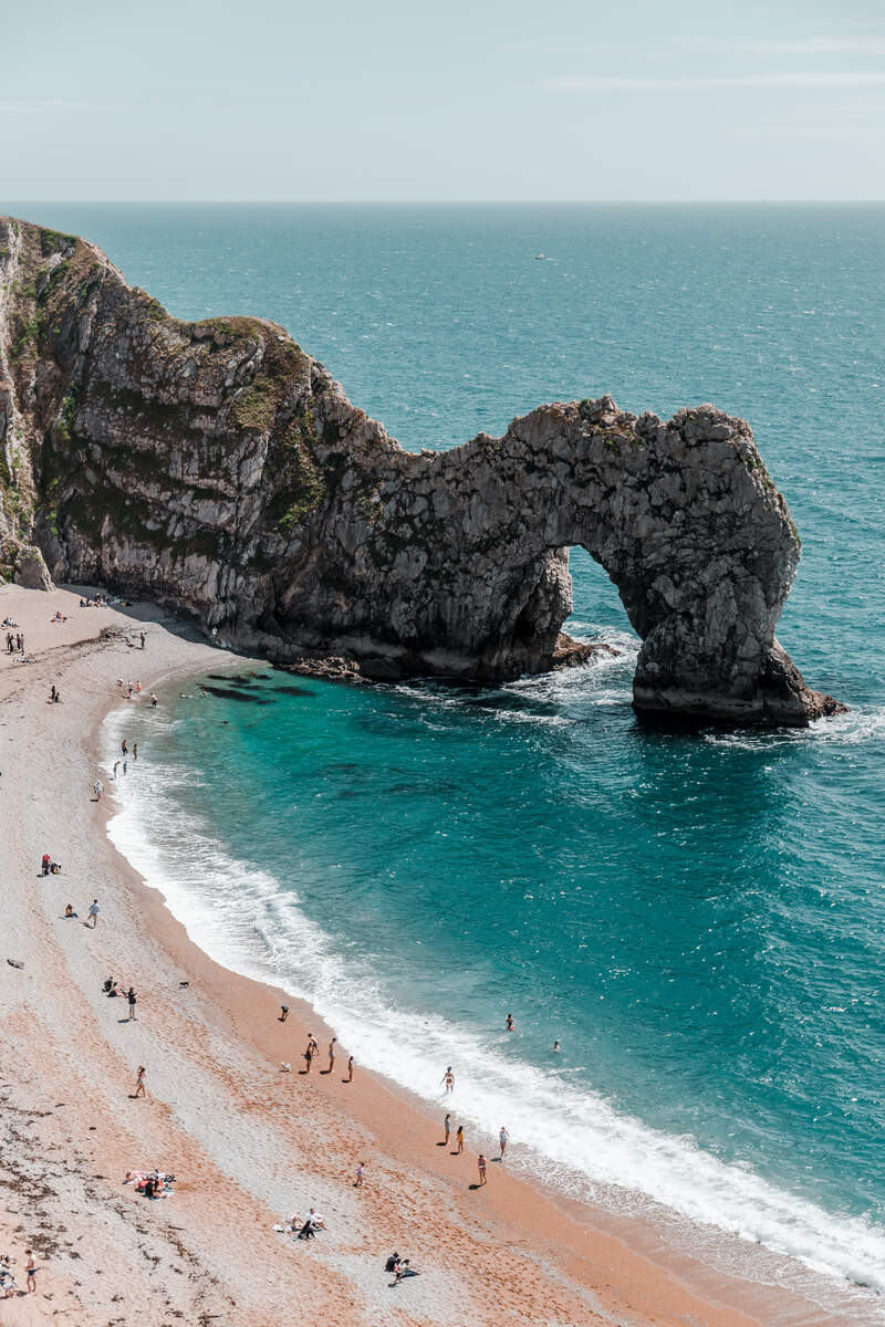 A view of the archway at Durdle Door on the Jurassic Coast