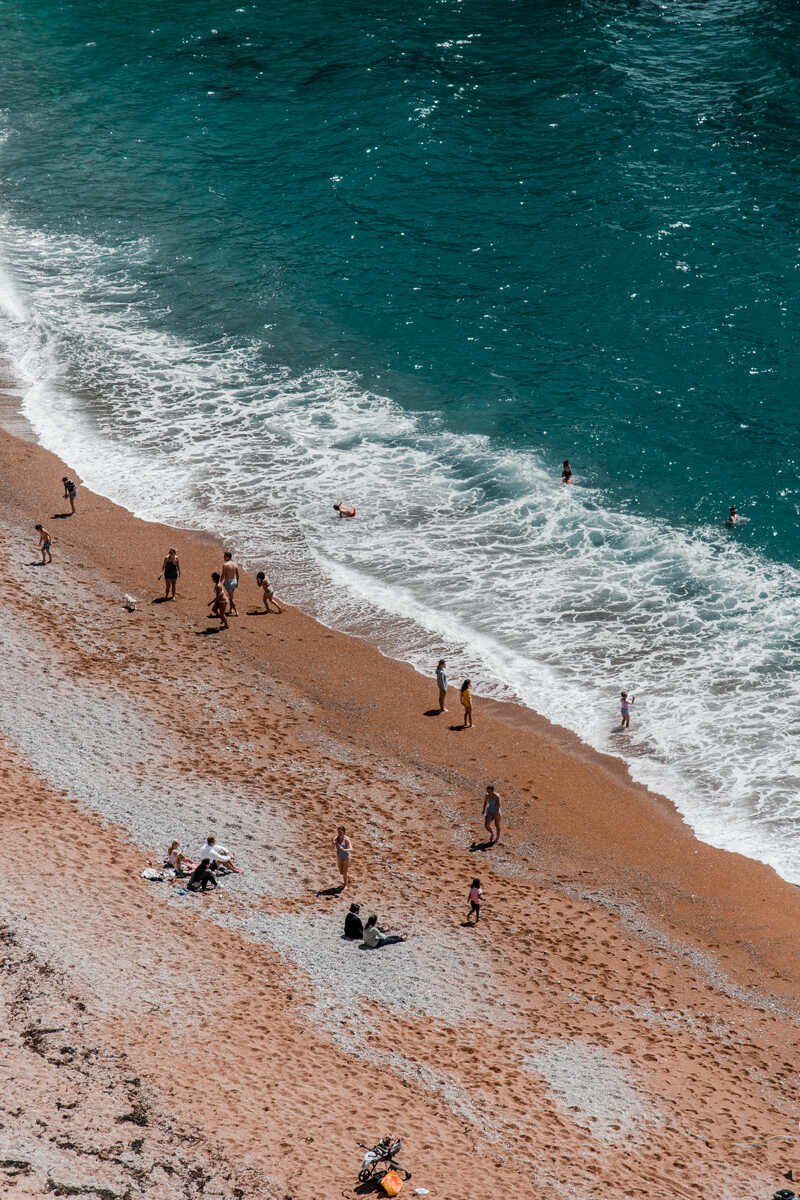 A view of the Durdle Door Beach which is one of the Best places to visit on jurassic coast