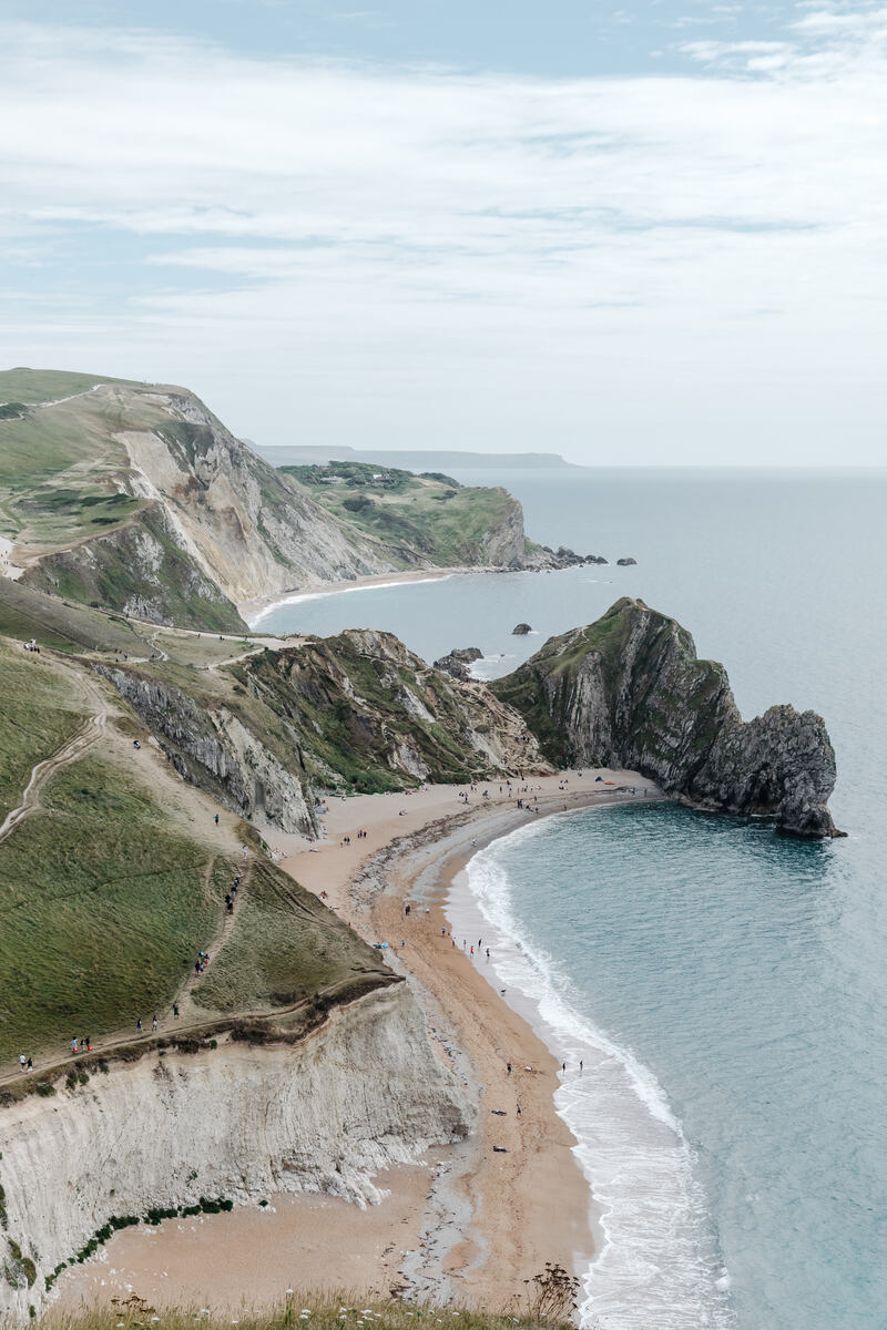 A view of Durdle Door which is one of the best places to visit on Jurassic Coast