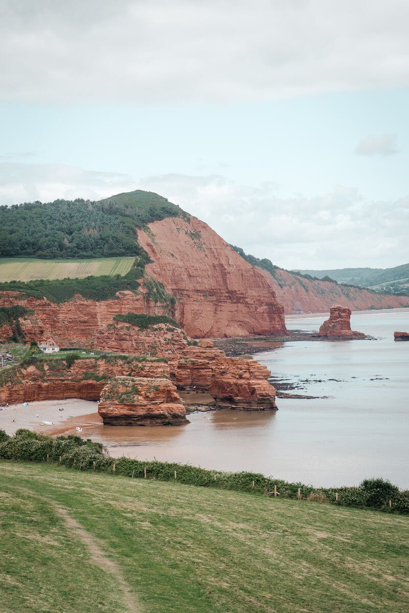 A view over Ladram Bay which is one of best places to visit on Jurassic Coast
