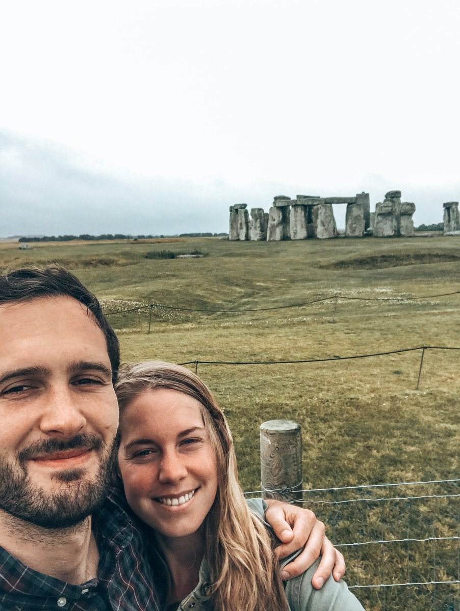 Selfie at stonehenge during a free visit