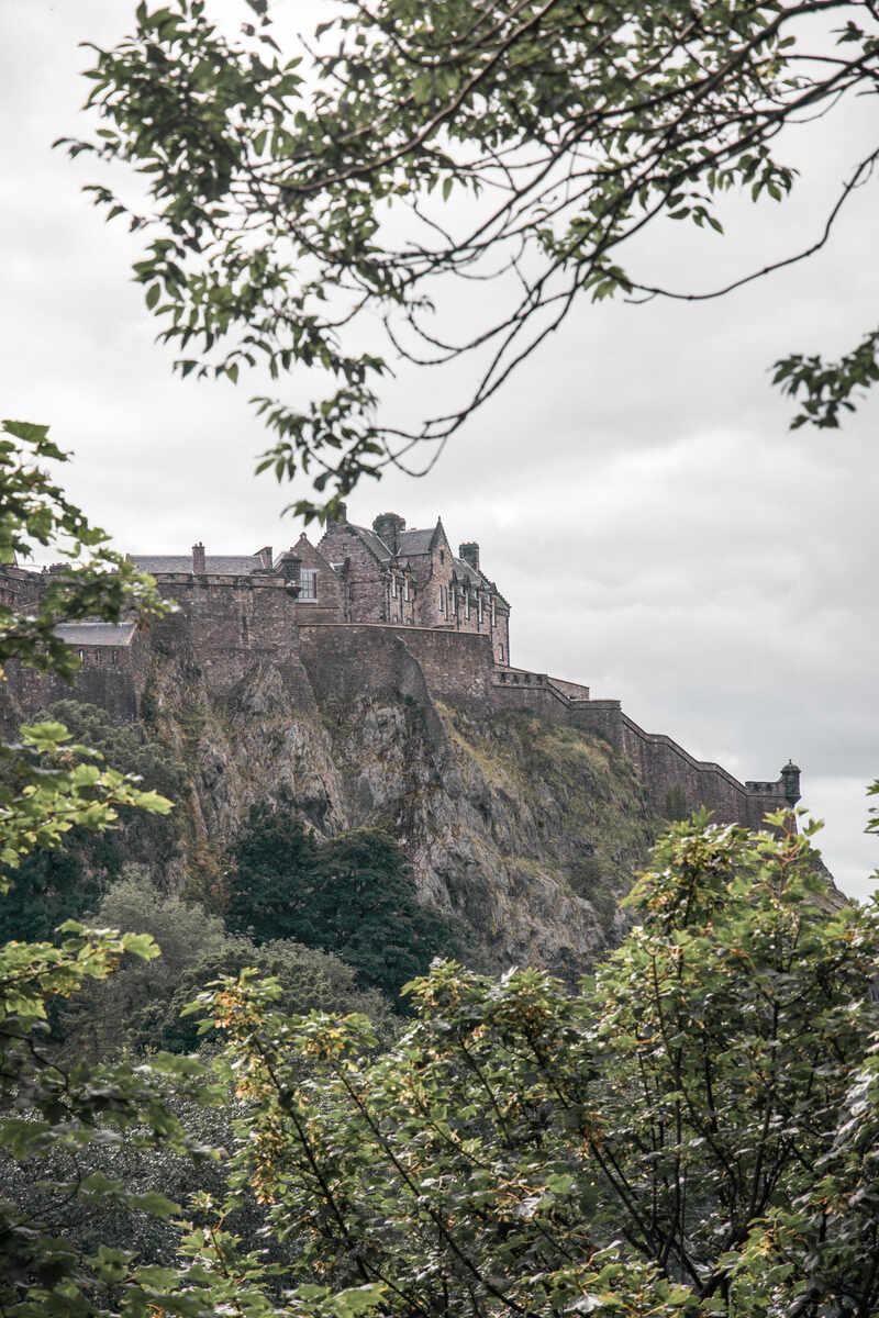 A distant view of Edinburgh Castle